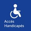 Pictogramme accès handicapés restaurants BON